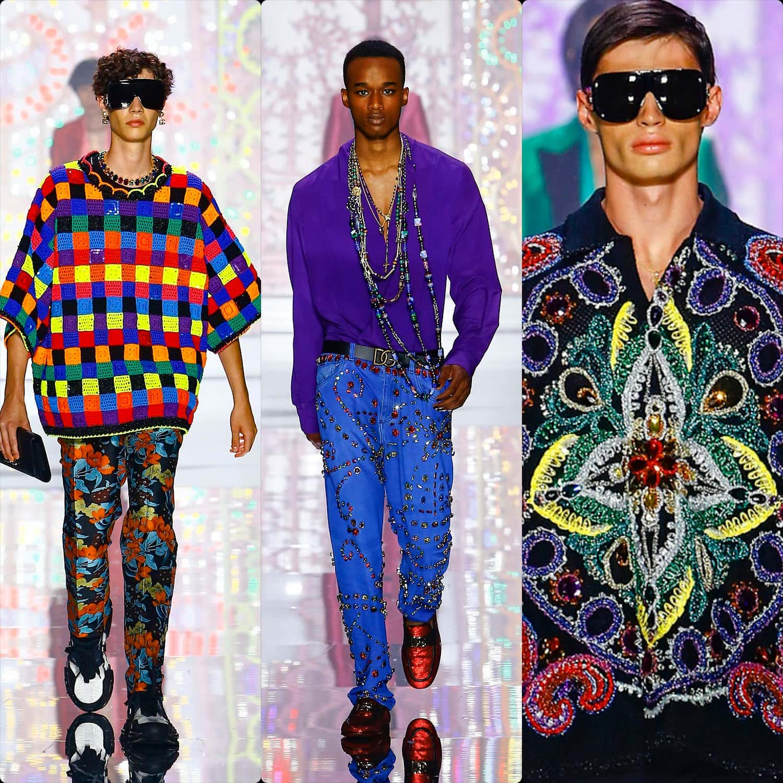 Dolce Gabbana Herren Frühling Sommer 2022 Lichttherapie von RUNWAY MAGAZINE