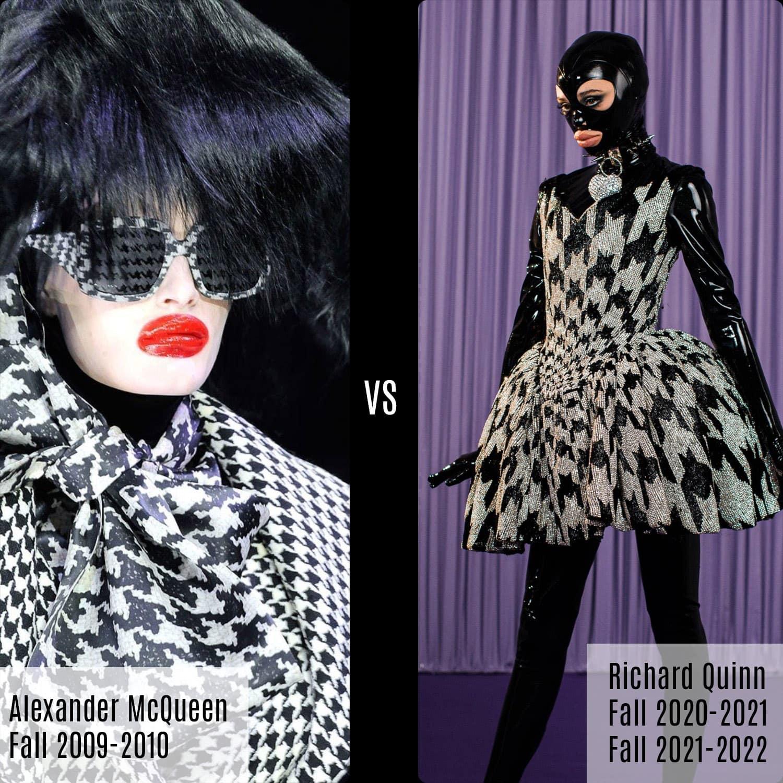Alexander McQueen automne 2009-2010 vs Richard Quinn automne 2020 automne 2021 par RUNWAY MAGAZINE