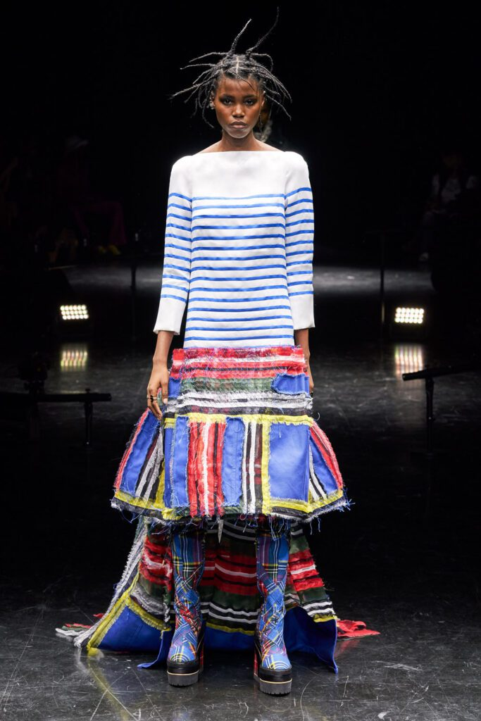 Jean Paul Gaultier x Sacai's Chitose Abe Couture Fall Winter 2021-2022 by RUNWAY MAGAZINE