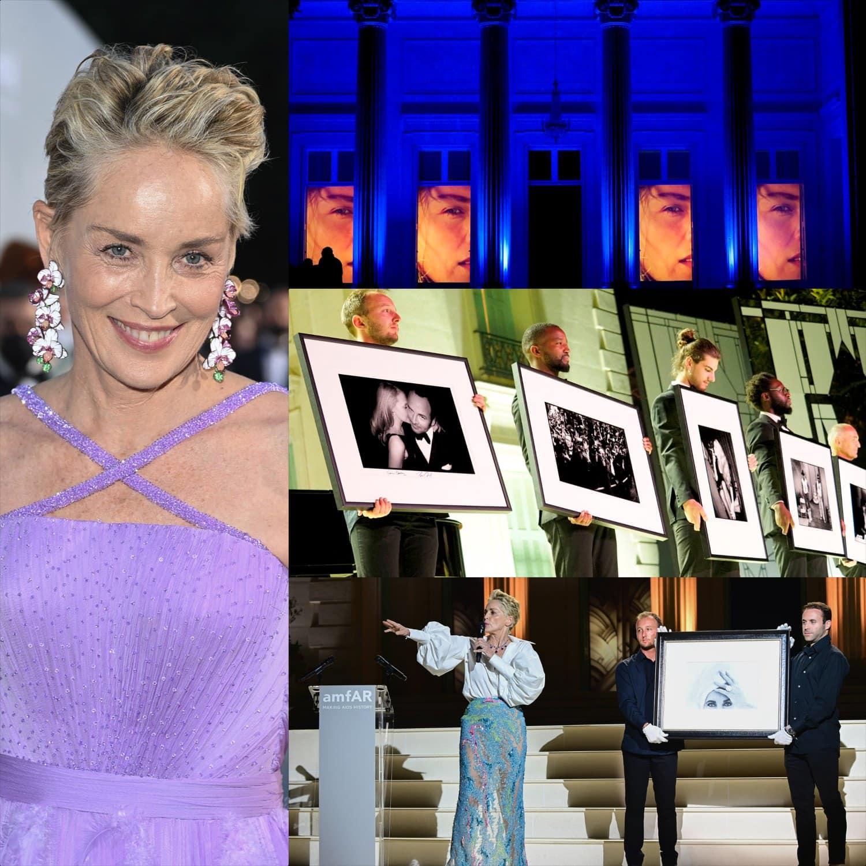 Cannes 2021 amfAR gala Sharon Stone por RUNWAY MAGAZINE