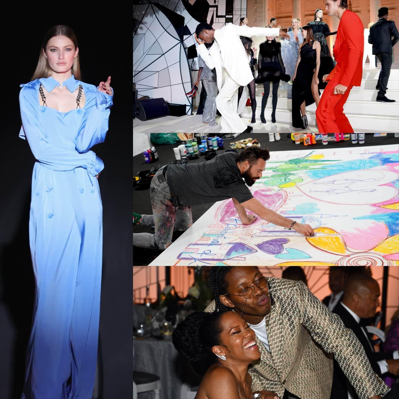 Cannes 2021 amfAR gala Regina King e Artista Sacha Jafri por RUNWAY MAGAZINE
