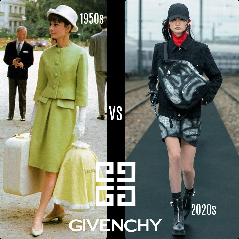 Givenchy 1950s vs Givenchy 2020s par RUNWAY MAGAZINE