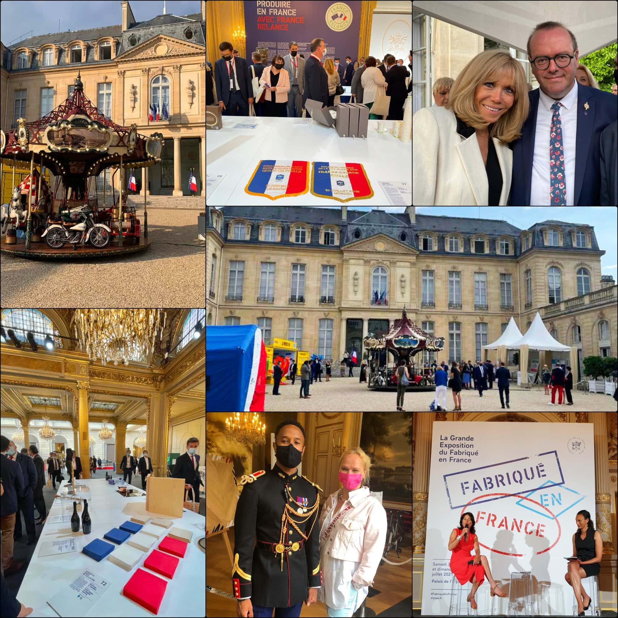 Fabriqué en France 2021 Élysée expo par RUNWAY RIVISTA. Brigitte Macron, Eleonora de Gray