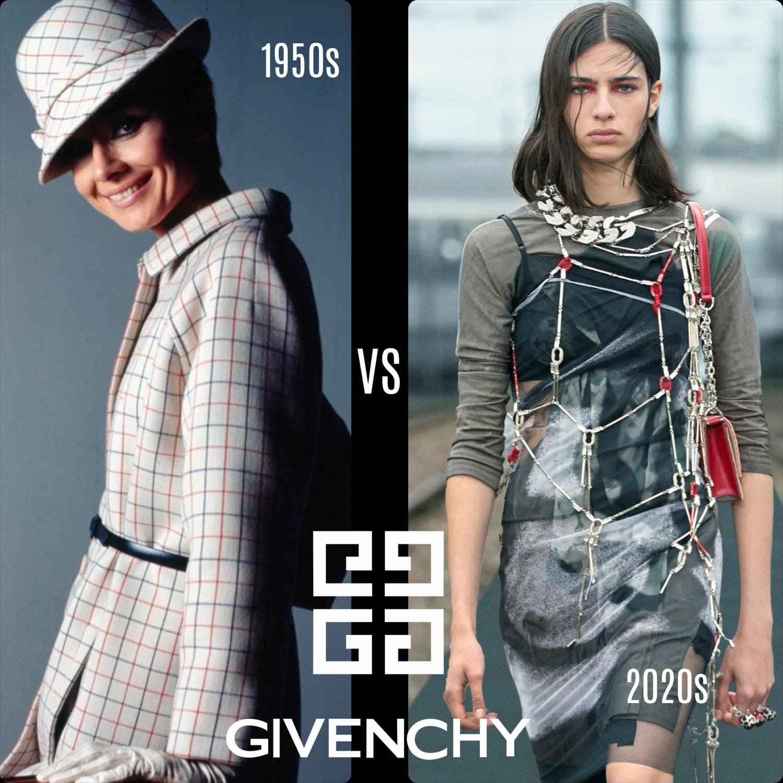 Givenchy anni '1950 vs Givenchy anni '2020 di RUNWAY MAGAZINE