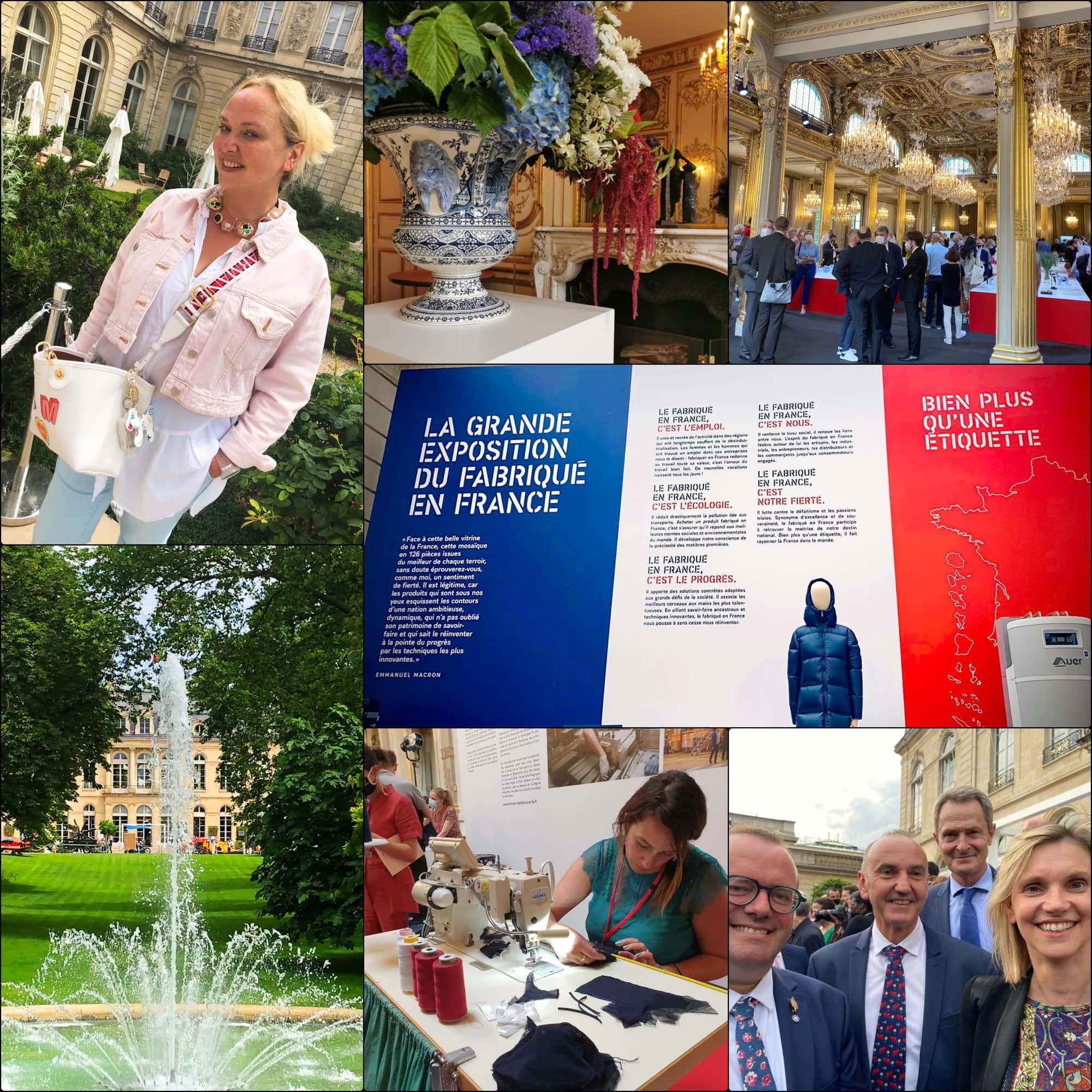 Fabriqué en France 2021 Élysée expo par RUNWAY RIVISTA. Eleonora de Gray, Agnès Pannier-Runacher,
