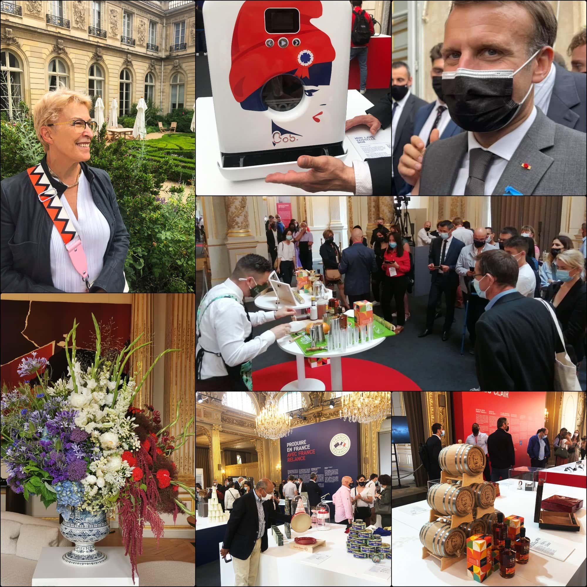 Fabriqué en France 2021 Élysée expo par RUNWAY RIVISTA. Emmanuel Macron, Guillaumette Duplaix