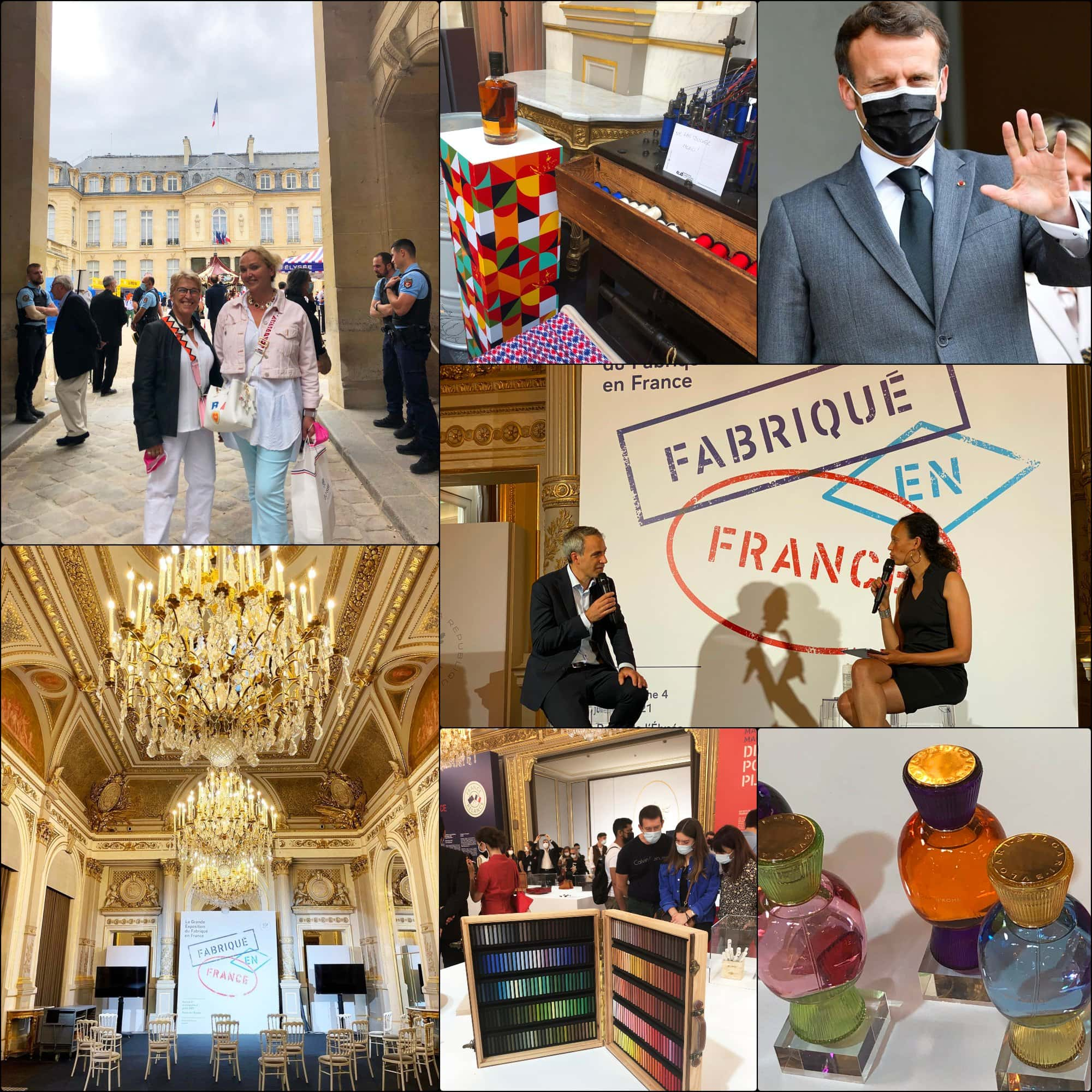 Fabriqué en France 2021 Élysée expo par RUNWAY RIVISTA. Emmanuel Macron