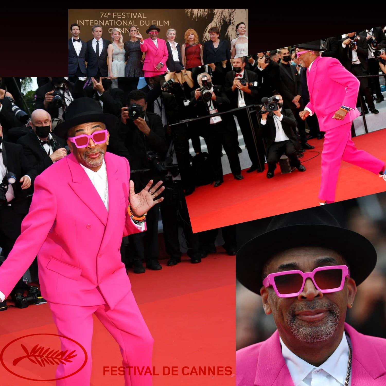 戛纳 2021 - 第 74 届电影节主席斯派克·李 (Spike Lee) 身着 Virgil Abloh - 照片 GettyImage - 由 RUNWAY 杂志