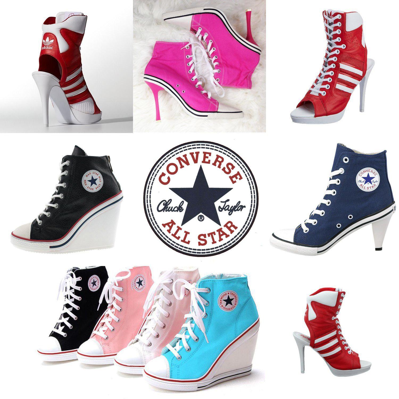 Converse e Adidas de salto alto e estilete por RUNWAY MAGAZINE