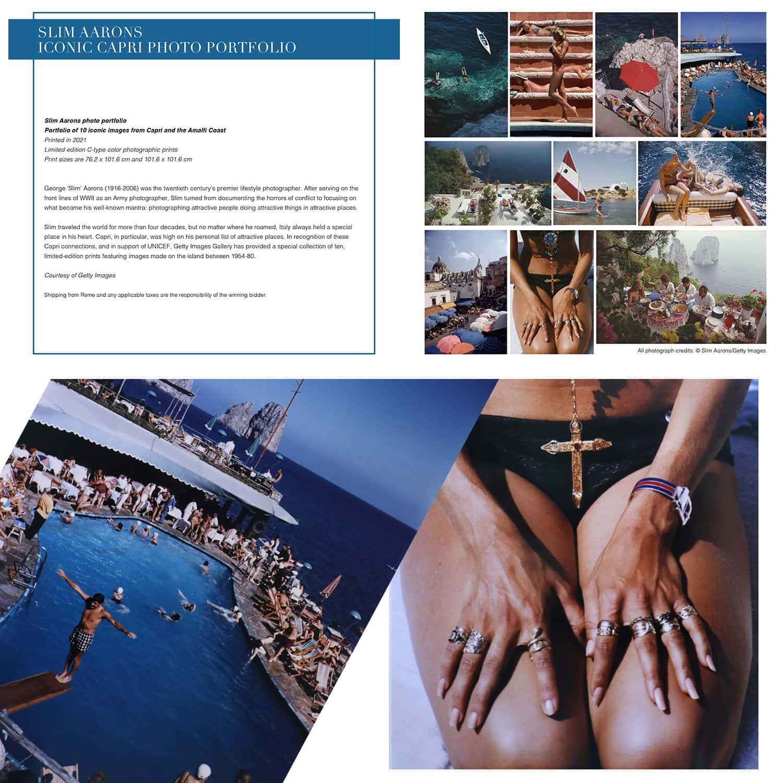 Тонкое фото портфолио Аарона Капри для аукциона Unicef, Капри, 31 июля 2021 г., автор: RUNWAY ЖУРНАЛ