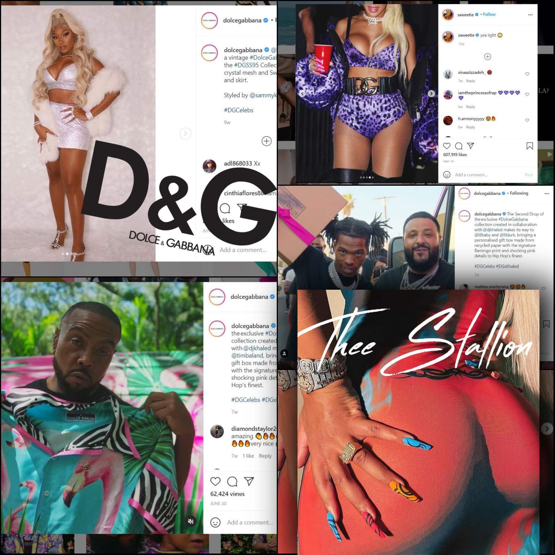Dolce Gabbana pour DJ Khaled, Lil Baby, Tim Baland, Saweetie, Thee Stallion
