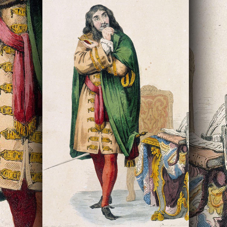 Jean-Baptiste Poquelin noto con il nome d'arte Molière - drammaturgo e attore francese