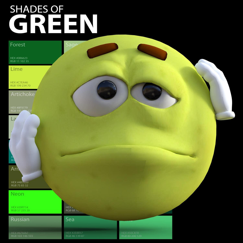 Sfumature di verde - smiley