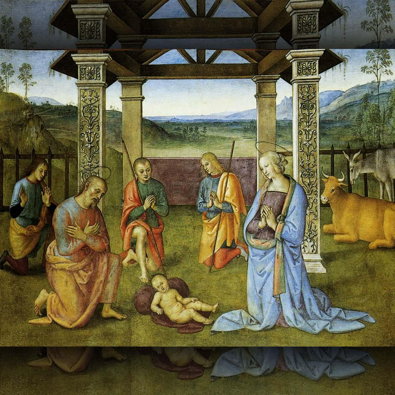 Pietro Perugino - Natività il Signore in gloria Angeli e Annunciazione