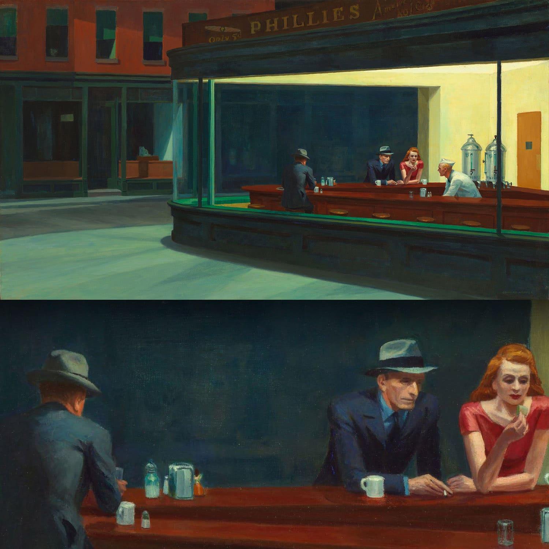 Nighthawks di Edward Hopper 1942