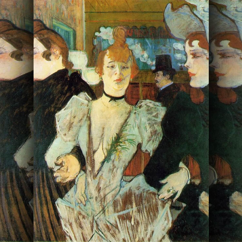 Toulouse Lautrec - La goulue arrivant au Moulin Rouge