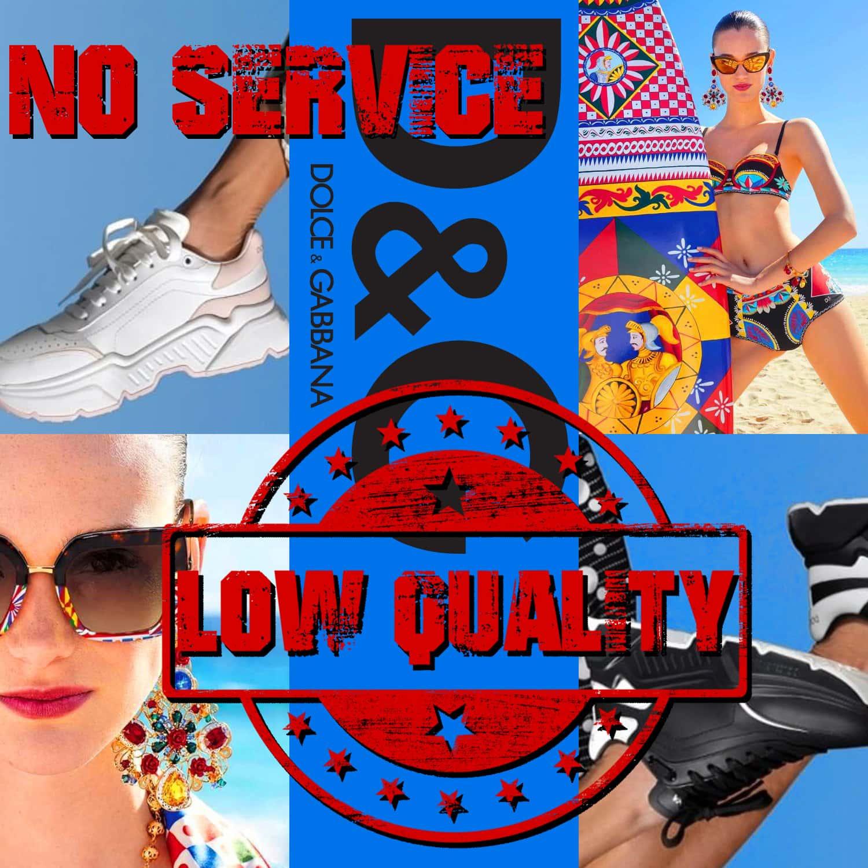 Baskets Dolce Gabbana, lunettes Dolce Gabbana - avis - PAS DE SERVICE - BASSE QUALITÉ