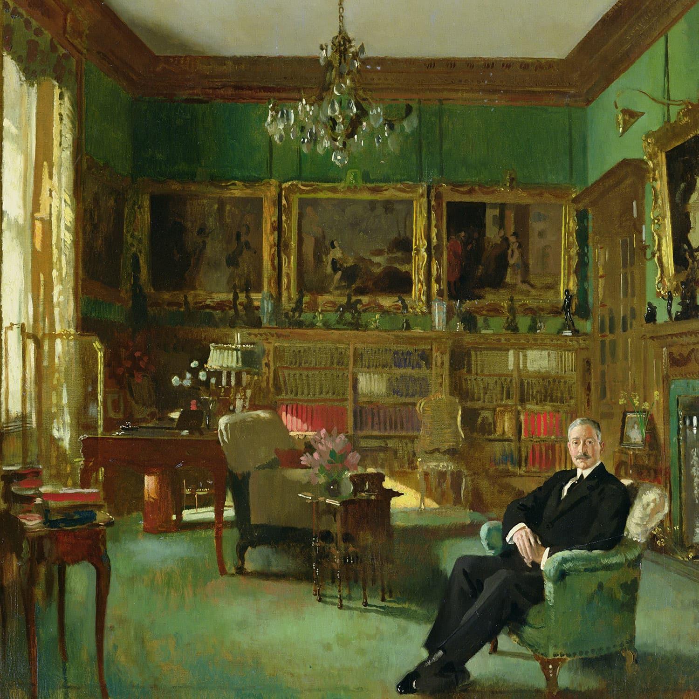 William Orpen Otto Beit nel suo studio a Belgrave Square