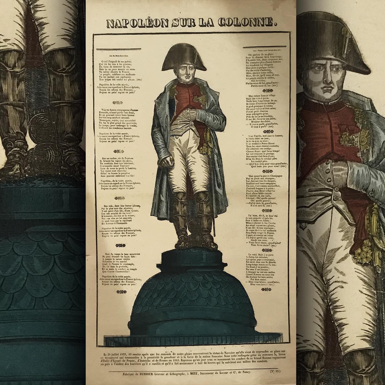 Dembour a Metz - Napoleone sulla Colonna - Accompagnato dalla famosa poesia di Béranger - Raccontaci di lui nonna, raccontaci di lui