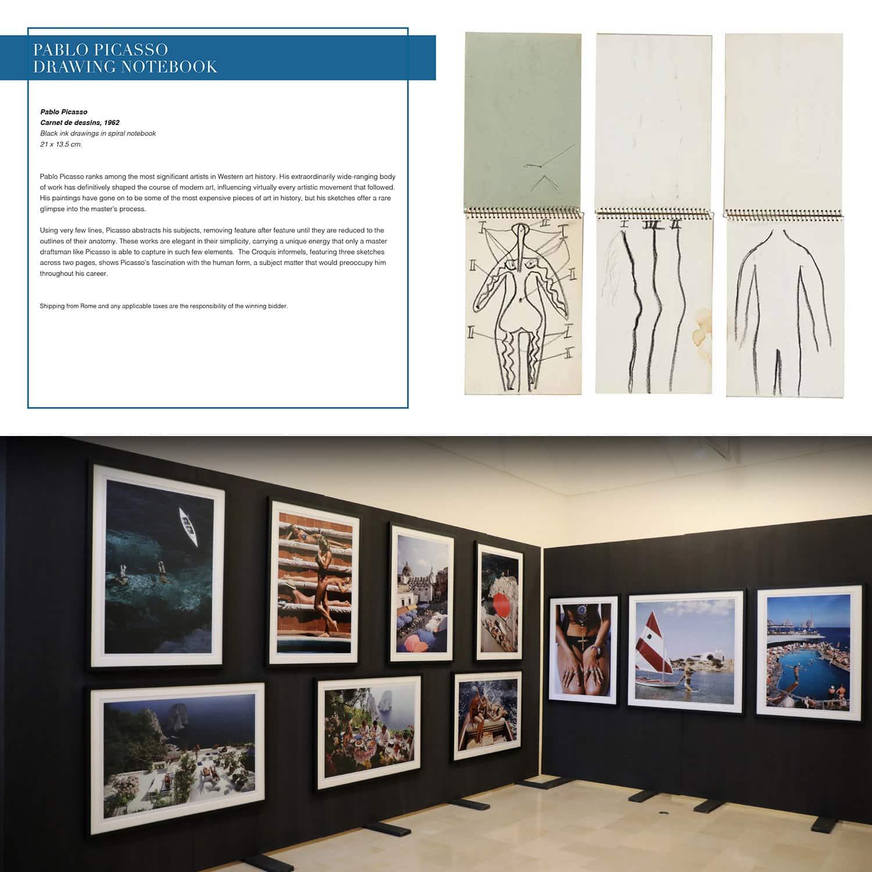 Записная книжка Пабло Пикассо для аукциона Unicef, Капри, 31 июля 2021 г., автор: RUNWAY ЖУРНАЛ