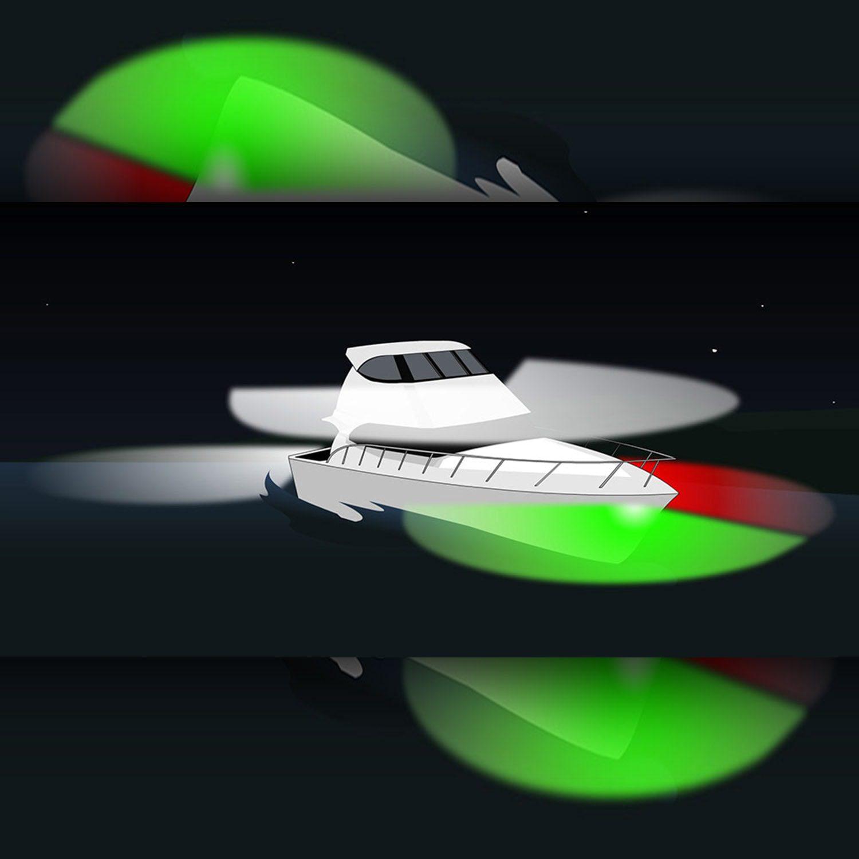 Navigazione luci VERDI e rosse su barche da 12 m