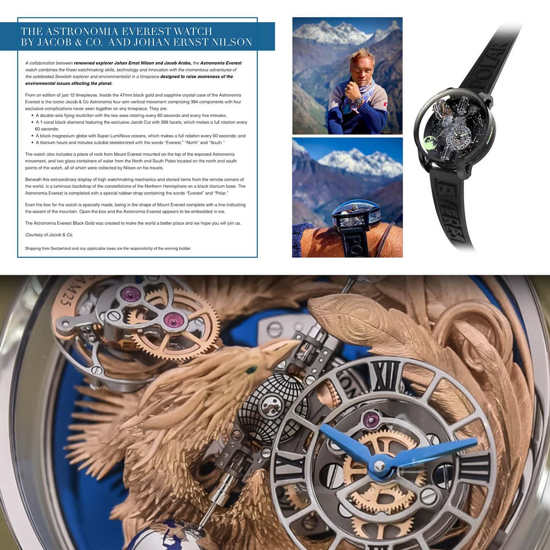 Часы Astronomia Everest от Jacob & Co и Йохана Эрнста Нильсона на аукционе Unicef Gala Capri 2021 от RUNWAY ЖУРНАЛ