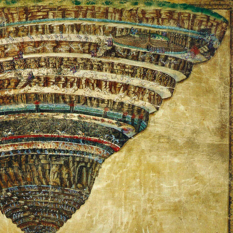 Divina Commedia di Dante Alighieri - Illustrazione di Sandro Botticelli di RUNWAY MAGAZINE