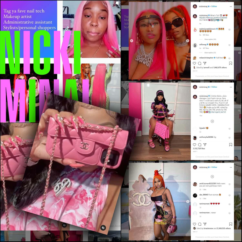 Chanel, Louis Vuitton, Dolce Gabbana pour Nicki Minaj et WHOLE LOTTA MONEY