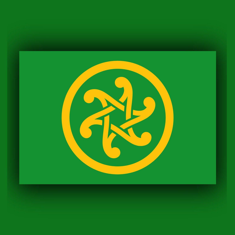 Bandiera panceltica creata da Robert Berthelier da RUNWAY MAGAZINE