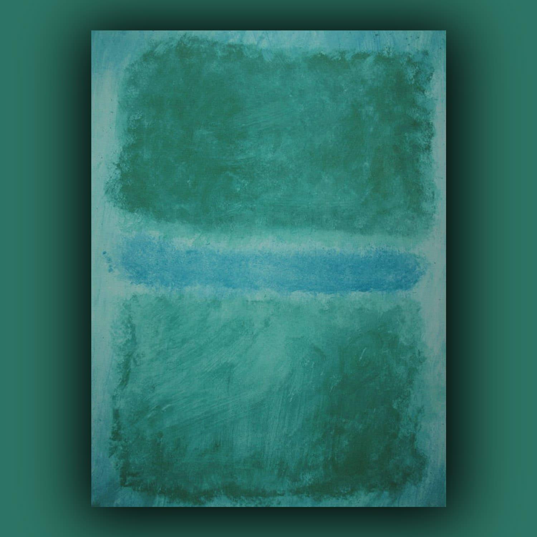 Mark Rothko - Verde diviso da Blu