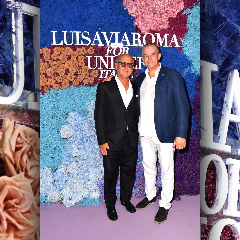 Андреа Панконези, генеральный директор LuisaViaRoma и Паоло Розера, исполнительный директор UNICEF Italia на мероприятии Unicef на Капри, июль 2021 г., автор: RUNWAY ЖУРНАЛ