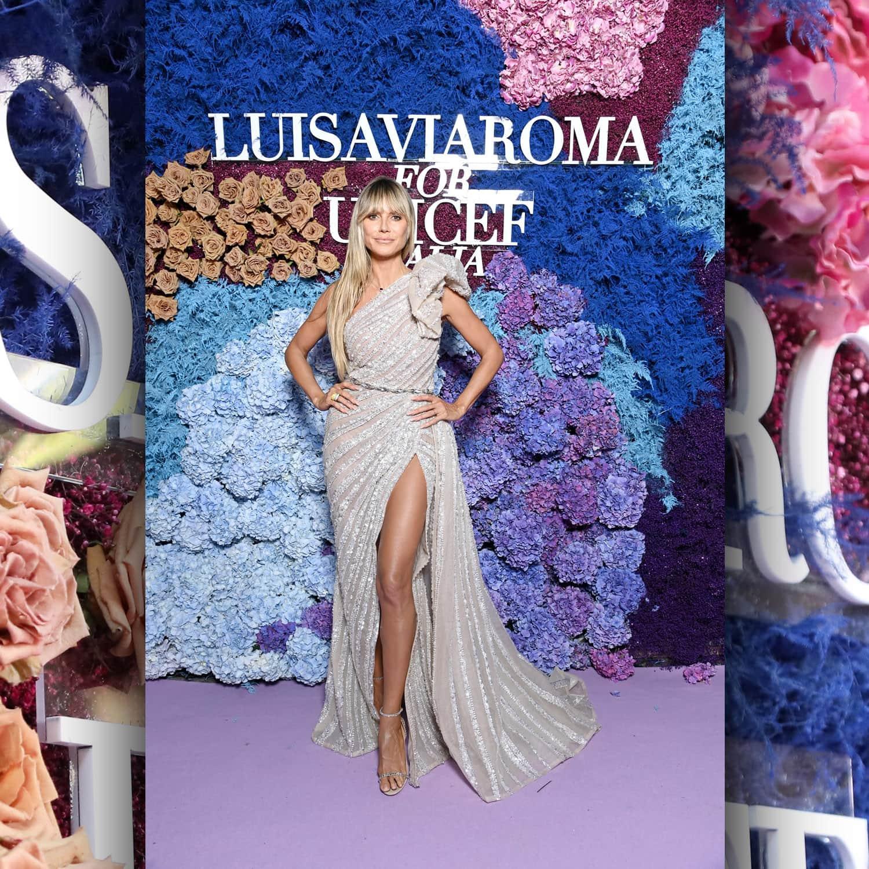 Хайди Клум, немецко-американская модель, в LuisaViaRoma для Unicef, Капри, 31 июля 2021 г. RUNWAY ЖУРНАЛ