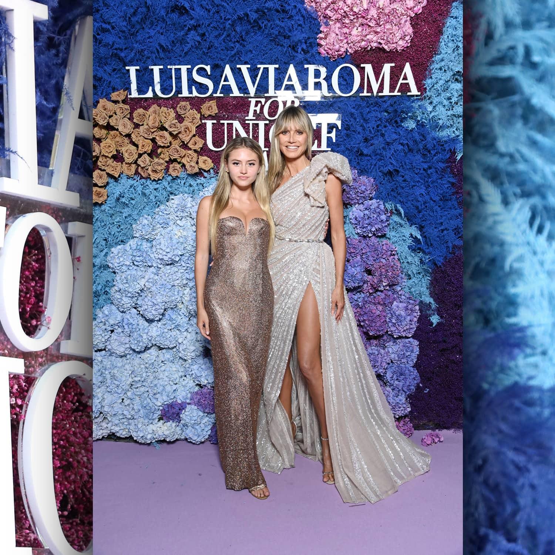 Хайди Клум. Немецко-американская модель и ее дочь Лени Клум в LuisaViaRoma для Unicef, Капри, 31 июля 2021 г. RUNWAY ЖУРНАЛ
