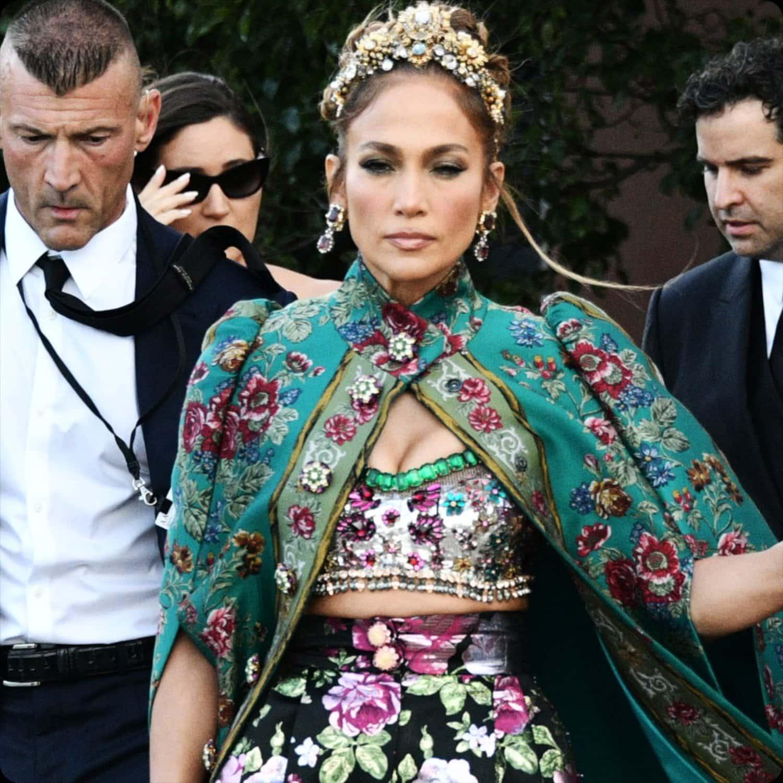 Jennifer Lopez - DOLCE GABBANA - Alta Moda Venezia 2021 by RUNWAY MAGAZINE