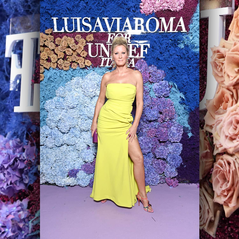 Сандра Ли Кристиансен, американский телеведущий в LuisaViaRoma для Unicef, Капри, 31 июля 2021 г., автор: RUNWAY ЖУРНАЛ