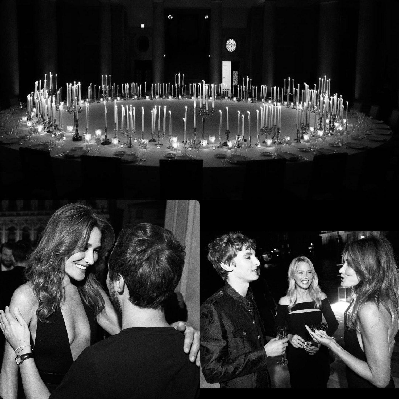 Carla Bruni at Saint Laurent Dinner Hypervenezia At Palazzo Grassi by RUNWAY MAGAZINE