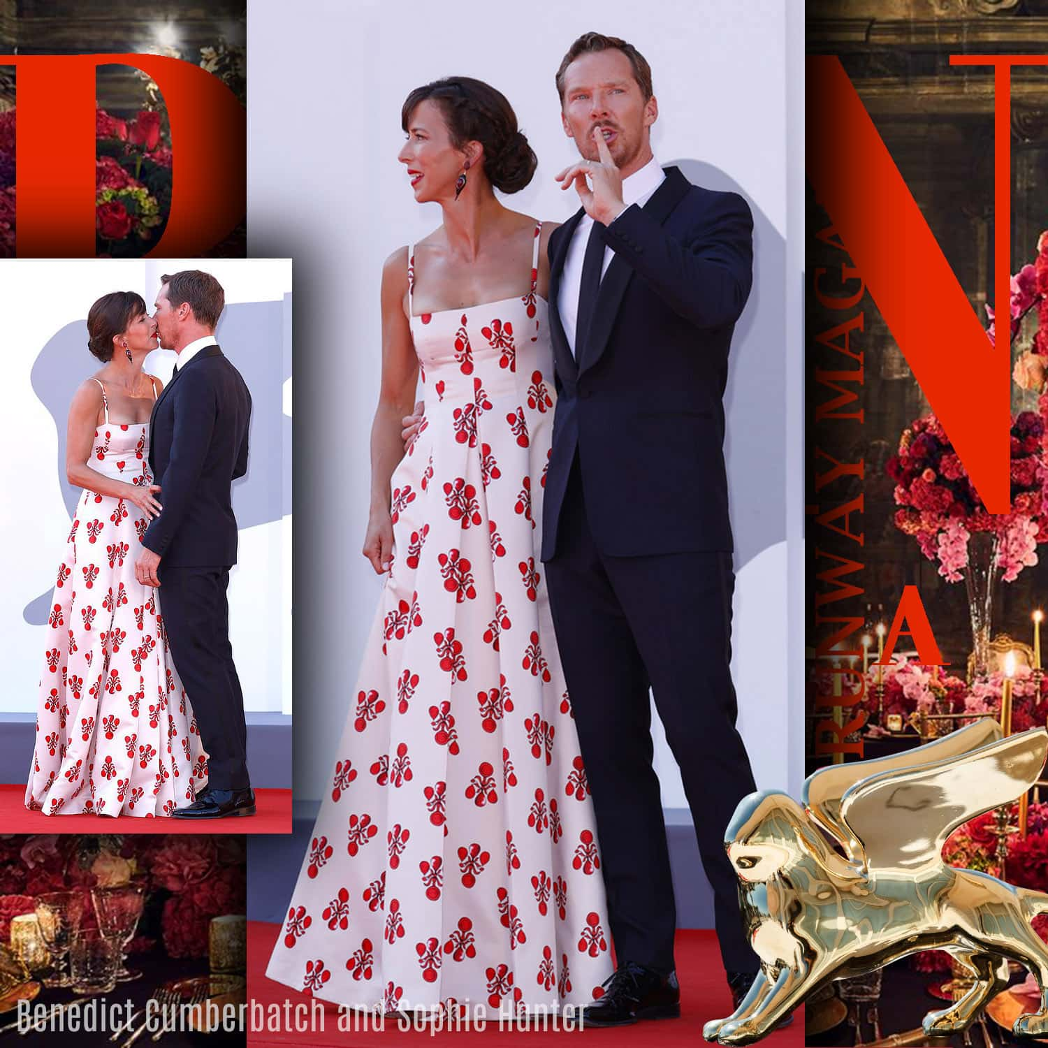 Benedict Cumberbatch and Sophie Hunter at 78th Venice International Film Festival by RUNWAY MAGAZINE