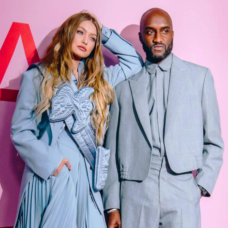 CFDA Awards 2021 - Gigi Hadid and Virgil Abloh designer of Louis Vuitton menswear