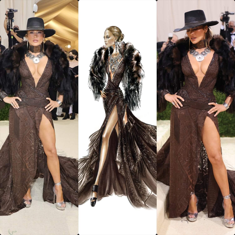 Дженнифер Лопес в Ralph Lauren на Met Gala 2021 от RUNWAY ЖУРНАЛ