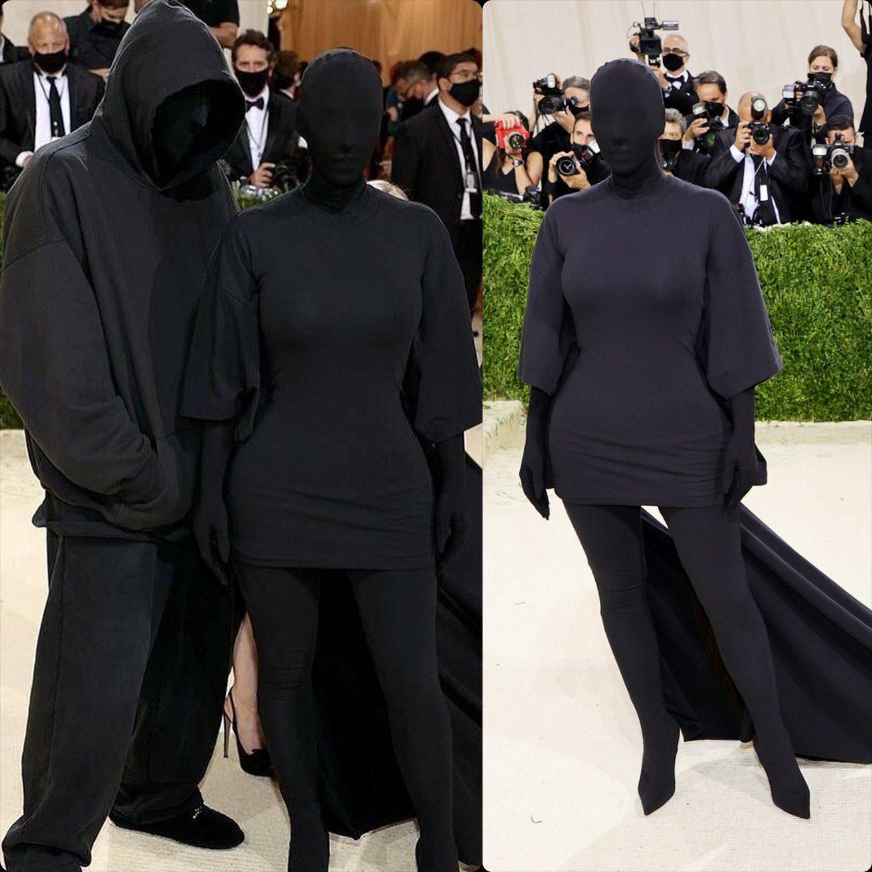 Ким Кардашьян Демна Гвасалия в Balenciaga на Met Gala 2021 от RUNWAY ЖУРНАЛ