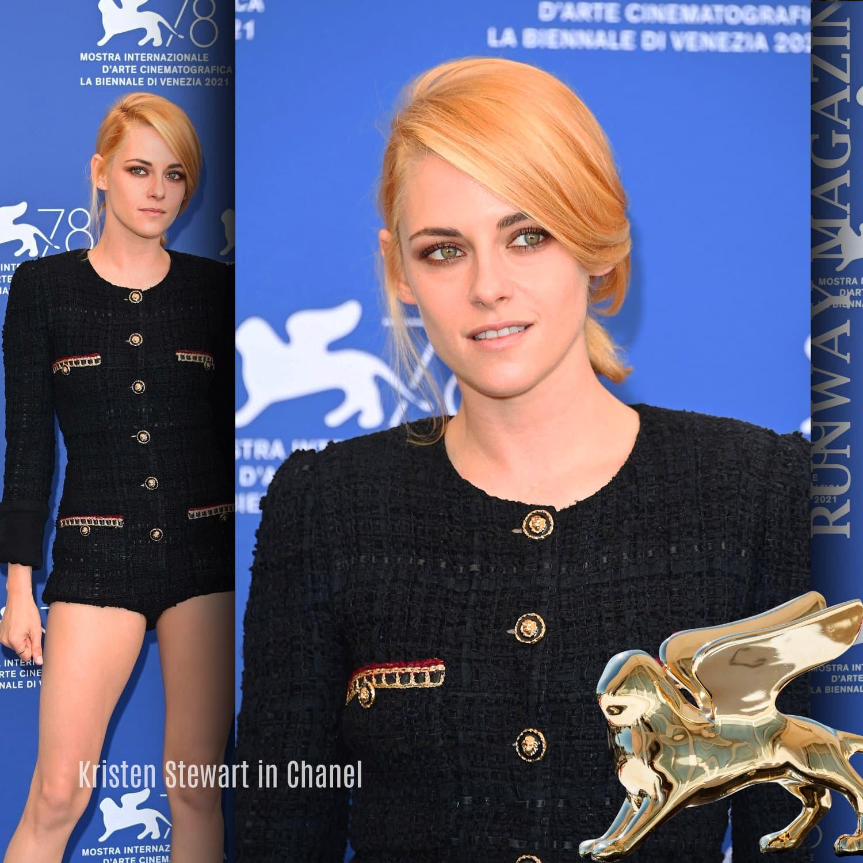 Kristen Stewart in Chanel at 78th Venice International Film Festival by RUNWAY MAGAZINE