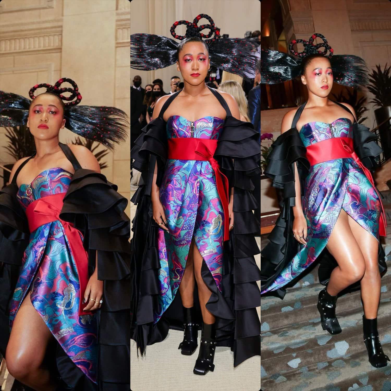 Наоми Осака в Louis Vuitton на Met Gala 2021 от RUNWAY ЖУРНАЛ