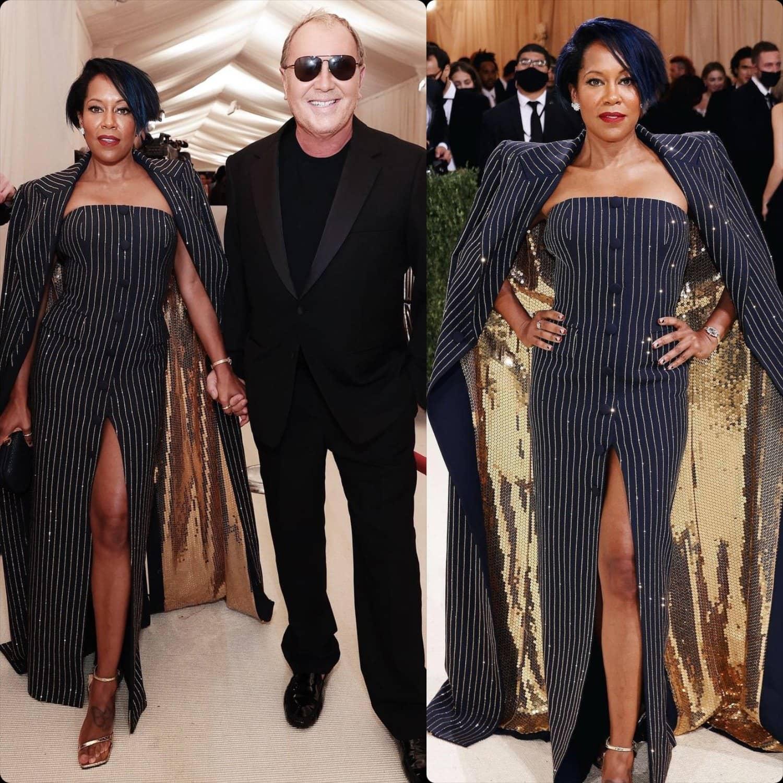 Регина Кинг и Майкл Корс на Met Gala 2021 от RUNWAY ЖУРНАЛ