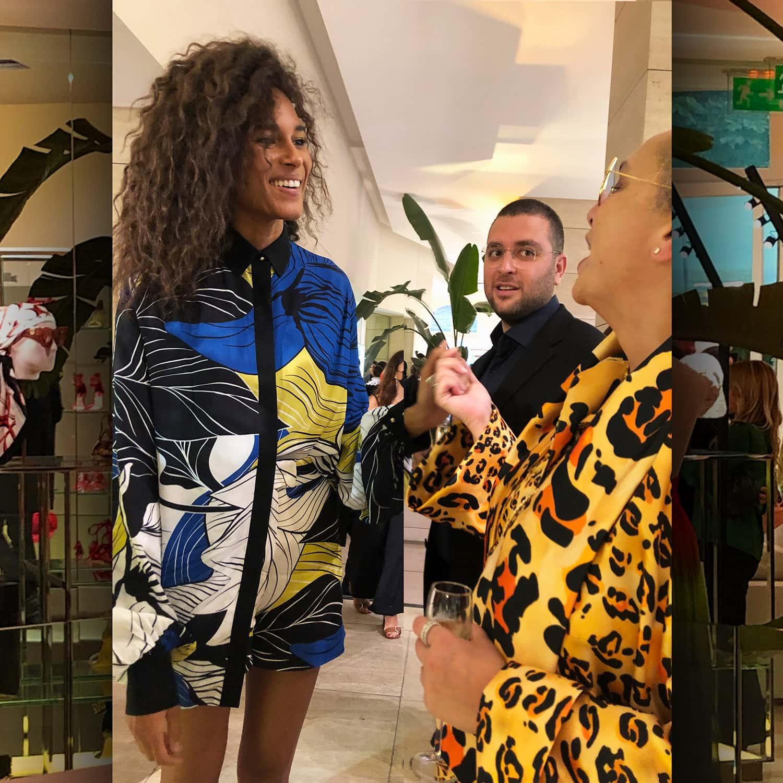 Top Model Cindy Bruna and Eleonora de Gray EIC RUNWAY MAGAZINE at presentation Elie Saab SS 2022