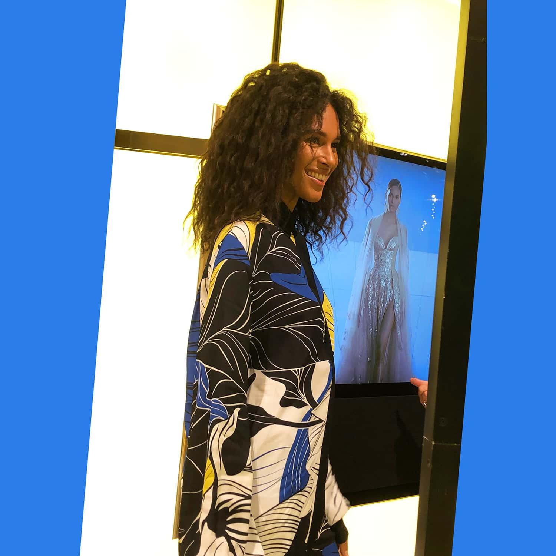 Top Model Cindy Bruna at presentation Elie Saab Spring Summer 2022