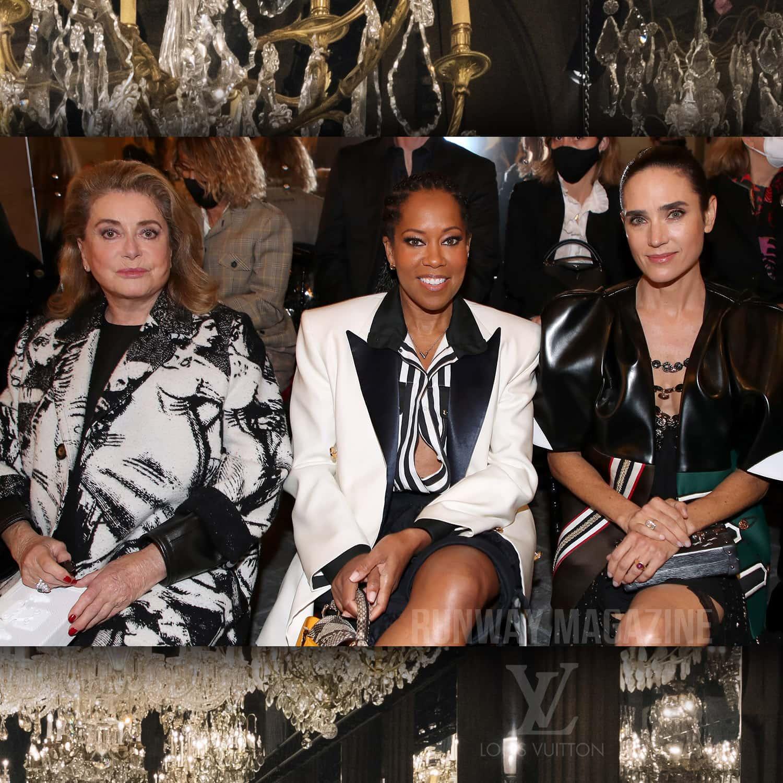 CATHERINE DENEUVE, REGINA KING, JENNIFER CONNELLY at Louis Vuitton Spring Summer 2022