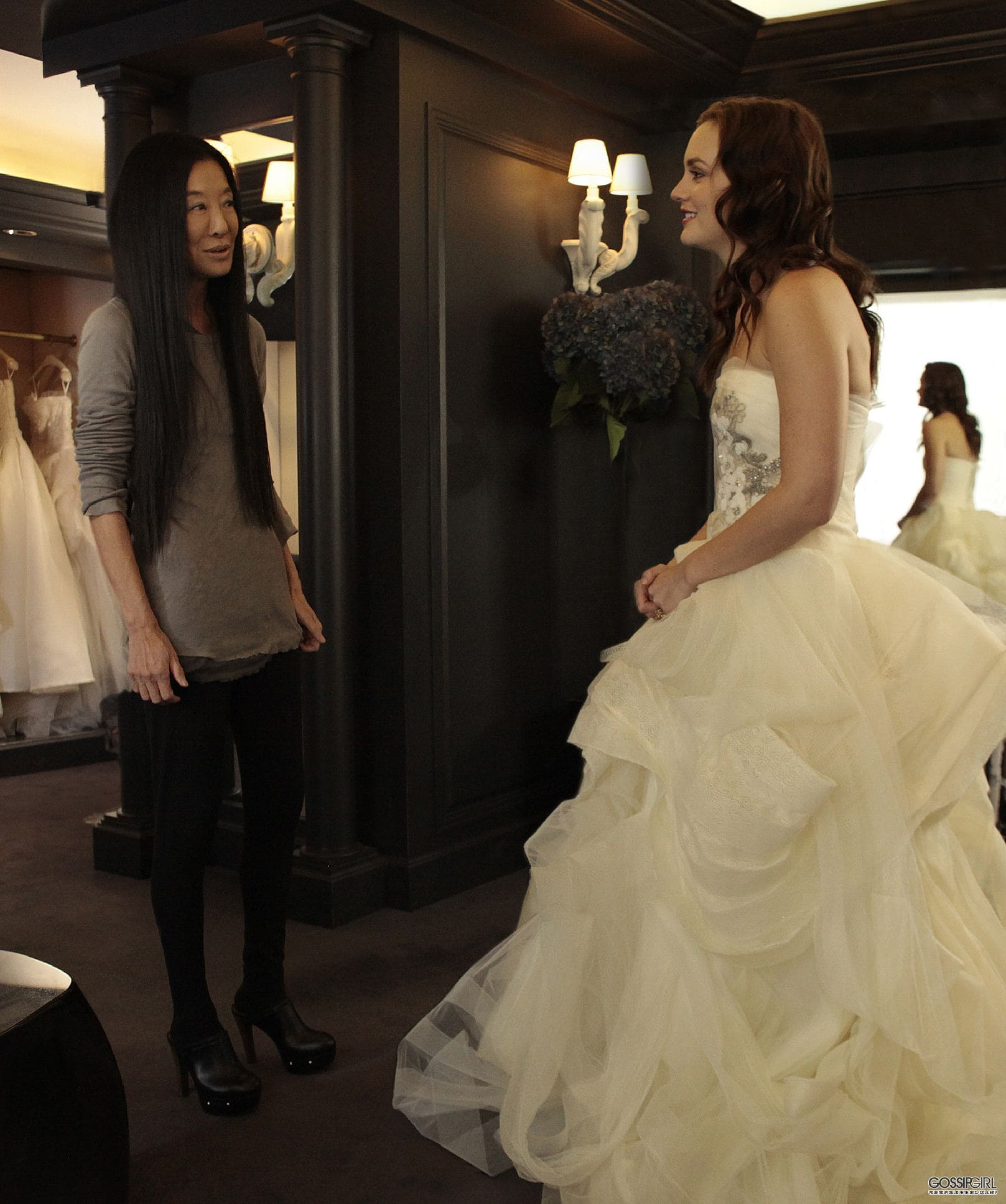 Blair-Waldorf-wedding-dress-fitting-Gossip-Girl-eleonora-de-gray-runway-magazine The three WANGs