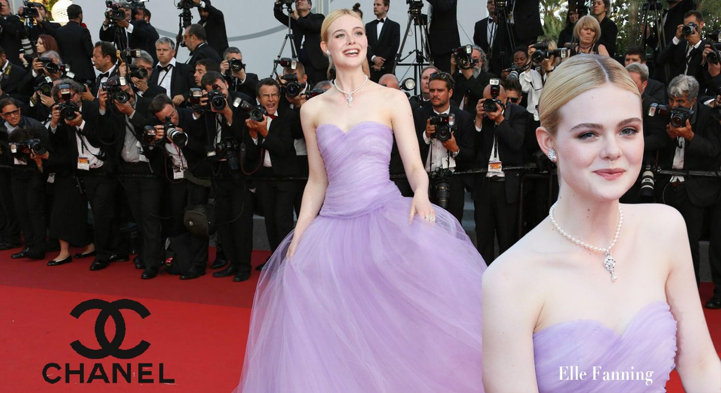 Elle Fanning Chanel by Runway Magazine Jewelry Collections at 70th Cannes Film Festival