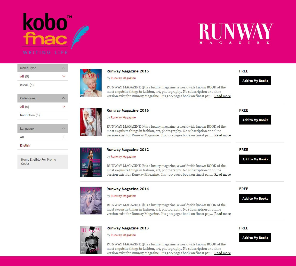 Fnac-Kobo-Runway-Magazine-Eleonora-de-Gray-digital-teaser Runway Magazine Digital issues