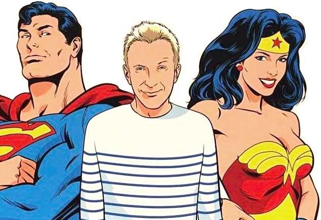 Jean-Paul-Gaultier-Runway-Magazine-comic-superman-wonderwoman Jean Paul Gaultier with Superman and Wonder Woman